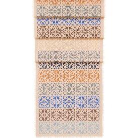 ロエベ LOEWE レディース マフラー・スカーフ・ストール【Anagram In Lines cashmere wool and silk-blend scarf】Beige/strawberry