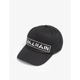 バルマン BALMAIN メンズ 帽子 キャップ【Logo baseball cap】Black