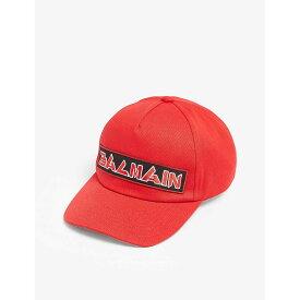 バルマン BALMAIN メンズ 帽子 キャップ【Logo baseball cap】Red