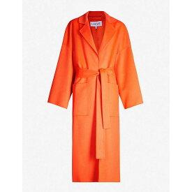 ロエベ LOEWE レディース アウター コート【Oversized wool and cashmere-blend coat】Orange