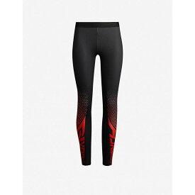ジバンシー GIVENCHY レディース インナー・下着 スパッツ・レギンス【Logo-print stretch-jersey leggings】Black red
