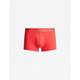 オム HOM メンズ インナー・下着 ボクサーパンツ【Classic stretch-cotton trunks】Red