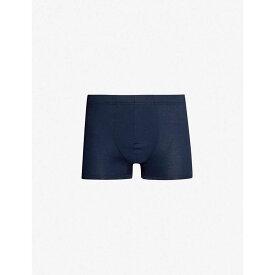ハンロ HANRO メンズ インナー・下着 ボクサーパンツ【Sea Island slim-fit cotton trunks】Deep midnight