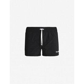 バルマン BALMAIN メンズ 水着・ビーチウェア 海パン【Logo-embroidered swim shorts】Black