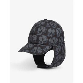 ヴァレンティノ VALENTINO メンズ 帽子 キャップ【Valentino x Undercover printed aviator cap】Black