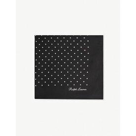 ラルフ ローレン RALPH LAUREN PURPLE LABEL メンズ ハンカチ・チーフ【Polka-dot silk pocket square】Black