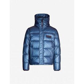 ケンゾー KENZO メンズ アウター ダウン・中綿ジャケット【Metallic padded shell-down puffer jacket】Slate blue