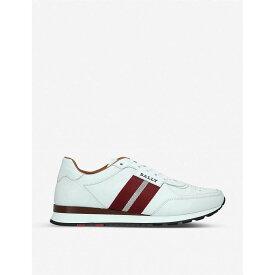 バリー BALLY メンズ シューズ・靴 スニーカー【Aston leather trainers】White/red