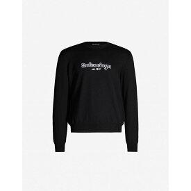 バレンシアガ BALENCIAGA メンズ トップス ニット・セーター【Logo-print wool jumper】Black white