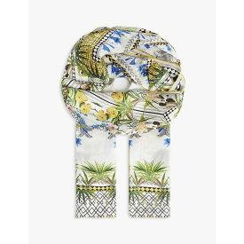 テッドベーカー TED BAKER レディース マフラー・スカーフ・ストール【Royal palm long silk scarf】White