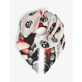アレキサンダー マックイーン ALEXANDER MCQUEEN レディース マフラー・スカーフ・ストール【Torn roses silk blend scarf】Pink/ivory