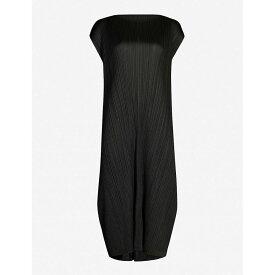 プリーツ プリーズ イッセイ ミヤケ PLEATS PLEASE ISSEY MIYAKE レディース ワンピース・ドレス ワンピース【Monthly Colors cap-sleeve crepe dress】Black