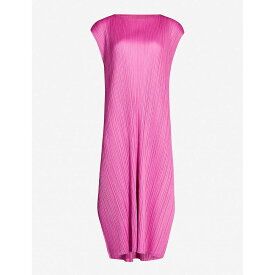 プリーツ プリーズ イッセイ ミヤケ PLEATS PLEASE ISSEY MIYAKE レディース ワンピース・ドレス ワンピース【Monthly Colors cap-sleeve crepe dress】Pink