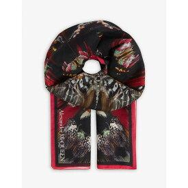 アレキサンダー マックイーン ALEXANDER MCQUEEN レディース マフラー・スカーフ・ストール【Butterfly print silk scarf】Black/multi