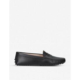 トッズ TODS レディース シューズ・靴 ローファー・オックスフォード【Mocassino leather driving shoes】Black