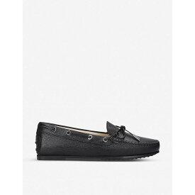 トッズ TODS レディース シューズ・靴 ローファー・オックスフォード【City Gommino leather loafers】Black