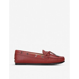トッズ TODS レディース シューズ・靴 ローファー・オックスフォード【City Gommino leather loafers】Red
