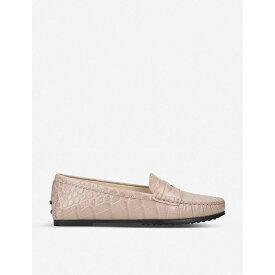 トッズ TODS レディース シューズ・靴 ローファー・オックスフォード【City Gommino crocodile-embossed leather loafers】Beige