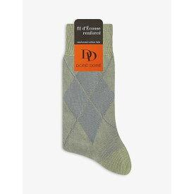 ドレ ドレ DORE DORE メンズ ソックス インナー・下着【harlequin cotton-blend socks】Mint