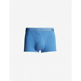 オム HOM メンズ ボクサーパンツ インナー・下着【regular-fit stretch-cotton trunks】Mid blue