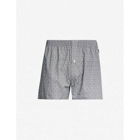 ハンロ HANRO メンズ ボクサーパンツ インナー・下着【patterned regular-fit cotton boxers】Artichoke ornament