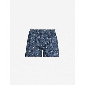 ハンロ HANRO メンズ ボクサーパンツ インナー・下着【patterned regular-fit cotton boxers】Seaport flower