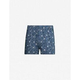 ハンロ HANRO メンズ ボクサーパンツ インナー・下着【elias regular-fit jersey boxer shorts】Seaport flower
