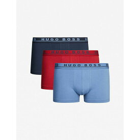 ヒューゴ ボス BOSS メンズ ボクサーパンツ インナー・下着【pack of three classic-fit stretch-cotton trunks】Blue/navy/burgundy