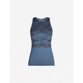 アディダス ADIDAS BY STELLA MCCARTNEY レディース タンクトップ トップス【essentials camouflage-print stretch-knit top】Tech ink utility black
