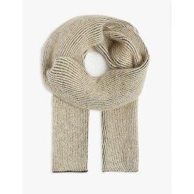 リック オウエンス RICK OWENS メンズ マフラー・スカーフ・ストール 【maglia wool and mohair fisherman scarf】Black beige