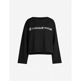 メゾン マルジェラ MM6 MAISON MARGIELA レディース スウェット・トレーナー トップス【reverse logo-printed cotton sweatshirt】Black