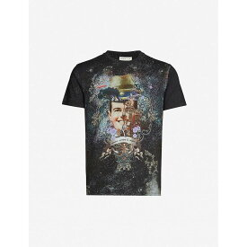 エトロ ETRO メンズ Tシャツ トップス【graphic-print cotton-jersey t-shirt】Black