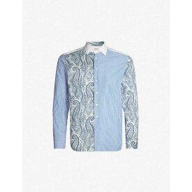 エトロ ETRO メンズ シャツ トップス【patchwork cotton shirt】Blue