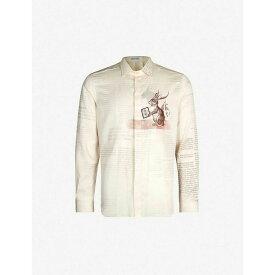 エトロ ETRO メンズ シャツ トップス【rabbit-print cotton shirt】Cream