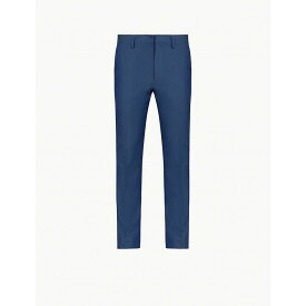 エトロ ETRO メンズ ボトムス・パンツ 【contrast-trim cotton and wool-blend trousers】Navy