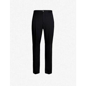 ランバン LANVIN メンズ スラックス ボトムス・パンツ【regular-fit wide wool trousers】Navy