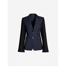 メゾン マルジェラ MAISON MARGIELA レディース スーツ・ジャケット アウター【slim-fit notch-lapel single-breasted mohair-and-wool-blend blazer】Navy blue