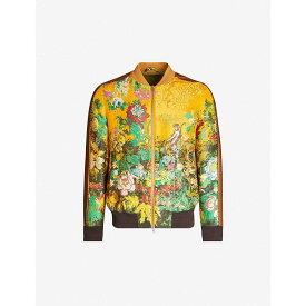 エトロ ETRO メンズ ブルゾン ミリタリージャケット アウター【floral-embroidered jacquard bomber jacket】Yellow