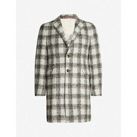 エトロ ETRO メンズ コート アウター【checked single-breasted alpaca and wool-blend coat】Multi