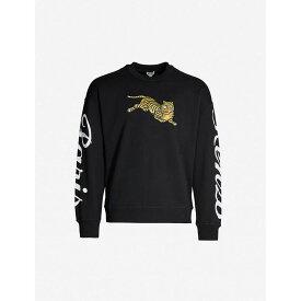 ケンゾー KENZO メンズ スウェット・トレーナー トップス【logo-embroidered cotton-jersey sweatshirt】Black