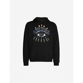 ケンゾー KENZO メンズ パーカー トップス【eye graphic-embroidered cotton-jersey hoody】Black
