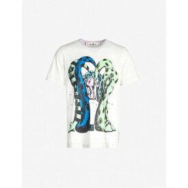 マルニ MARNI メンズ Tシャツ トップス【dinosaur-print cotton-jersey t-shirt】Off white