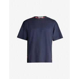 マルニ MARNI メンズ Tシャツ トップス【graphic-print oversized cotton-jersey t-shirt】Blue