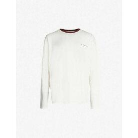 マルニ MARNI メンズ Tシャツ トップス【octopus-print cotton-jersey t-shirt】Off white