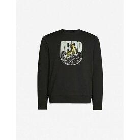 ケンゾー KENZO メンズ スウェット・トレーナー トップス【logo-print stretch-cotton jersey sweatshirt】Black