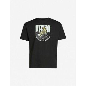 ケンゾー KENZO メンズ Tシャツ トップス【logo-print cotton-jersey t-shirt】Black