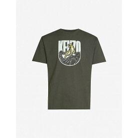 ケンゾー KENZO メンズ Tシャツ トップス【logo-print cotton-jersey t-shirt】Khaki