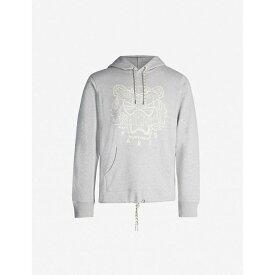 ケンゾー KENZO メンズ パーカー トップス【tiger-embroidered cotton-jersey hoody】Grey