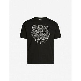 ケンゾー KENZO メンズ Tシャツ トップス【tiger-embroidered cotton-blend jersey t-shirt】Black