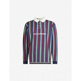 ドロール ド ムッシュ DROLE DE MONSIEUR メンズ ポロシャツ トップス【logo-embroidered striped polo shirt】Multi